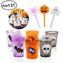 halloween picks set 72pcs cupcake toppers cupcake