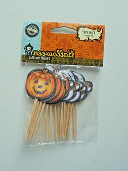 Wilton Halloween Pumpkins Ghosts Cupcake Picks Cake Toppers