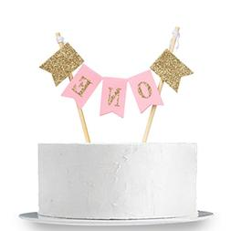 INNORU Handmade ONE First Birthday Cake Topper - 1st Birthda
