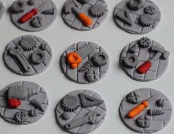 Handy Tools Cupcake Fondant Toppers Birthday Decoration