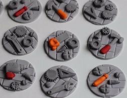 Handy Tools Cupcake Fondant Toppers Birthday Decoration