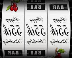 Happy 55th Birthday Casino Slot Machine Birthday ~ Edible Ca