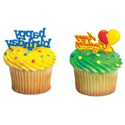 happy birthday cupcake topper picks 12 pcs