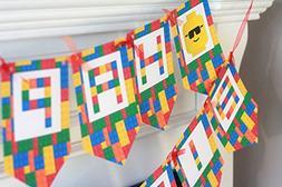 Happy Birthday Lego Movie Batman Superman Yellow, Red, Green