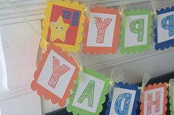 Happy Birthday Primary Color Little Baby Bum Orange, Green,