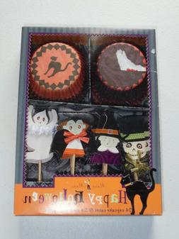 happy halloween cupcake toppers and cups vampire