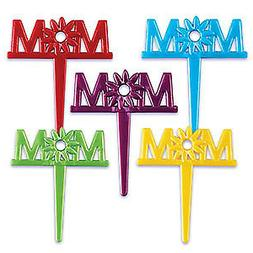 Happy Mother's Day Cake Toppers Mom Cupcake Picks One Dozen