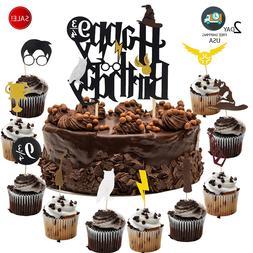 Harry Happy Birthday Cake Topper & Cupcake Toppers Decoratio