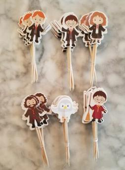 Harry Potter Cupcake Toppers Kids Birthday Party Supplies He