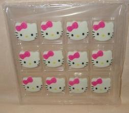 Hello Kitty Face Set, Edible Sugar Cupcake Toppers,DecoPac,1