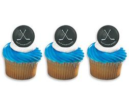 Hockey Puck Ring Cake Cupcake Topper