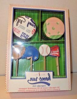 Meri Meri - Home Run - 48 Cupcake Cases / Liners & Asst. Top