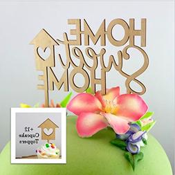 Home Sweet Home Cake Topper & Cupcake Toppers Set, Housewarm