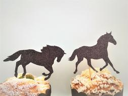 Horse Cupcake Toppers,Horse Themed Party Decor,Derby Cupcake