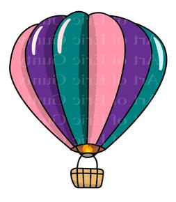 Hot Air Balloon Baby Birthday ~ Sheet Birthday Cake Topper ~