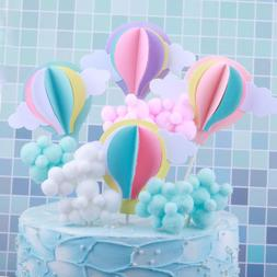 Hot Air Balloon Cake Cupcake Topper Birthday Wedding Party B