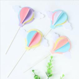 hot air balloon cake cupcake toppers muffin