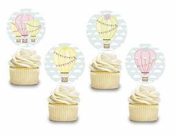 Hot Air Balloon Cake Topper Decor 12 PCS, Girls Cupcake Pick