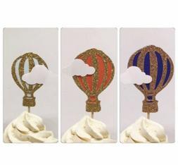 Hot air balloon toppers, hot air balloon cupcake toppers, cu