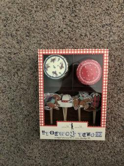Meri Meri Howdy Cowboy Cupcake Kit-Includes 24 cupcake cases