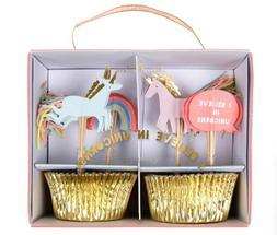 Meri Meri I Believe In Unicorns Cupcake Kit Unicorn Birthday