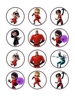 Incredibles edible party cupcake toppers decoration frosting