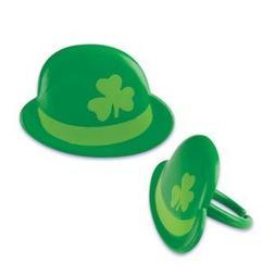 12 ct - Green Irish Shamrock Derby Hat St. Patrick's Day Cup