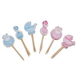 It's a Boy/Girl Kids Birthday Cute Cupcake Toppers Baby Show