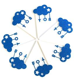 Its a Boy Cupcake Toppers 12pcs, Blue Moon Cake Picks Baby S