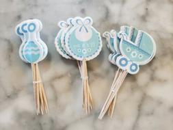 Its a Boy Gender Reveal Baby Shower Party Cupcake Toppers Ca