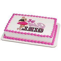 JoJo Siwa Birthday Girl Edible Cake OR Cupcake Toppers Decor