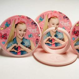 Jojo Siwa Cupcake Toppers Rings Birthday Party Favors - Set