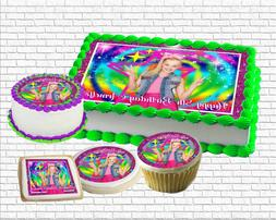 Jojo Siwa edible Birthday Cake topper paper sugar sheet pict