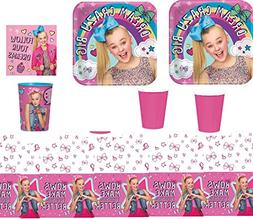 JoJo Siwa Party Supply Kit for 16 Guests - Plates, Cups, Nap