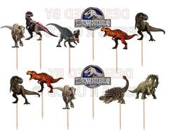 Jurassic World Cupcake Toppers 12 or 24 pc. Party Supplies.