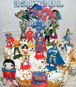 Justice League Deluxe Cake Toppers Cupcake Decorations Set o