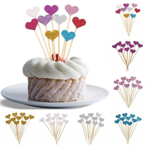10/40pc Birthday Cupcake Toppers Party Shower Cake