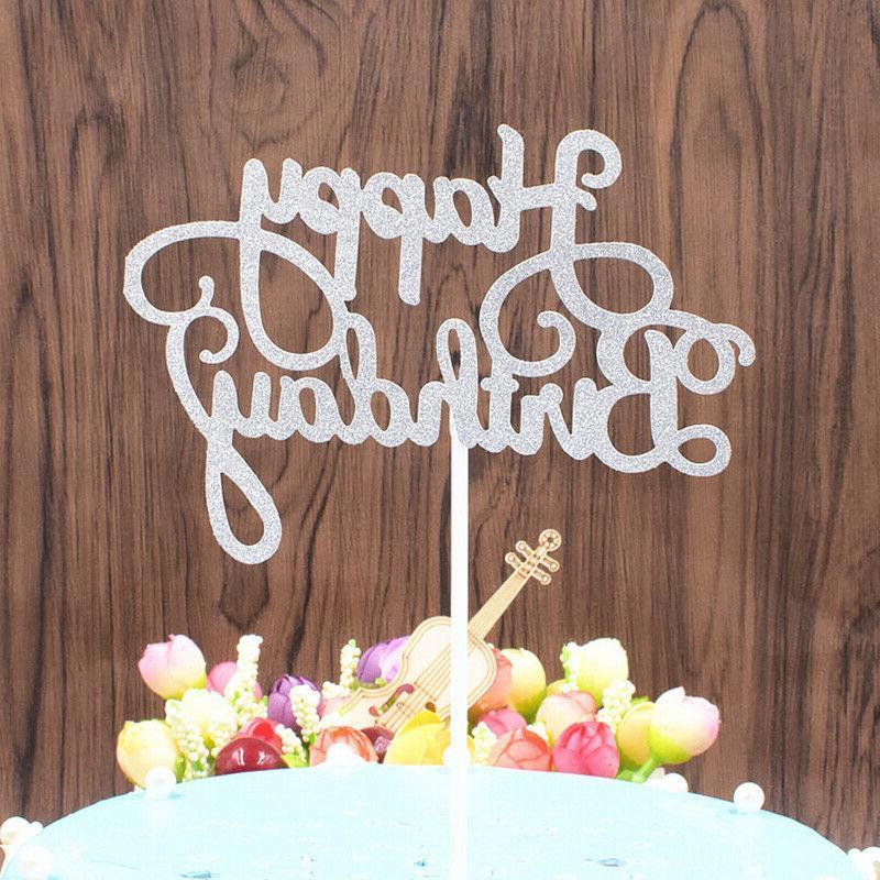 10 Paper Happy Cake Cupcake Dessert Supplies