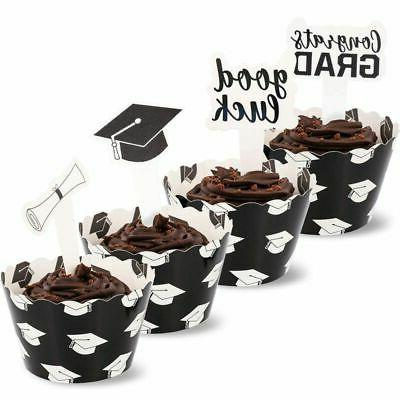 100 piece set graduation party supplies cupcake