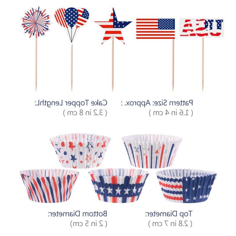 100pcs lot 4th of july cupcake liners