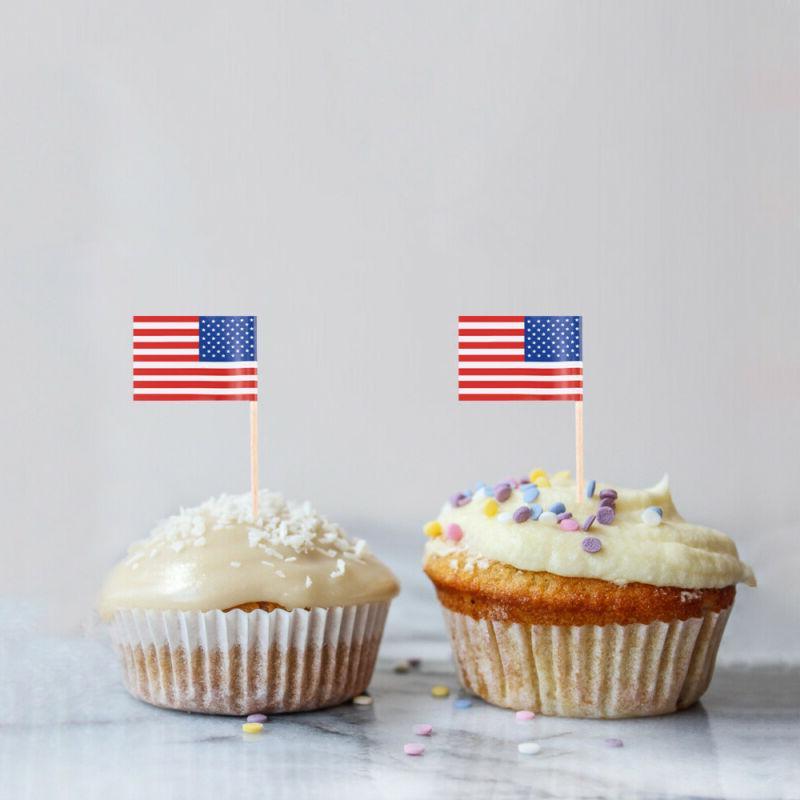 100Pcs US Flag Party