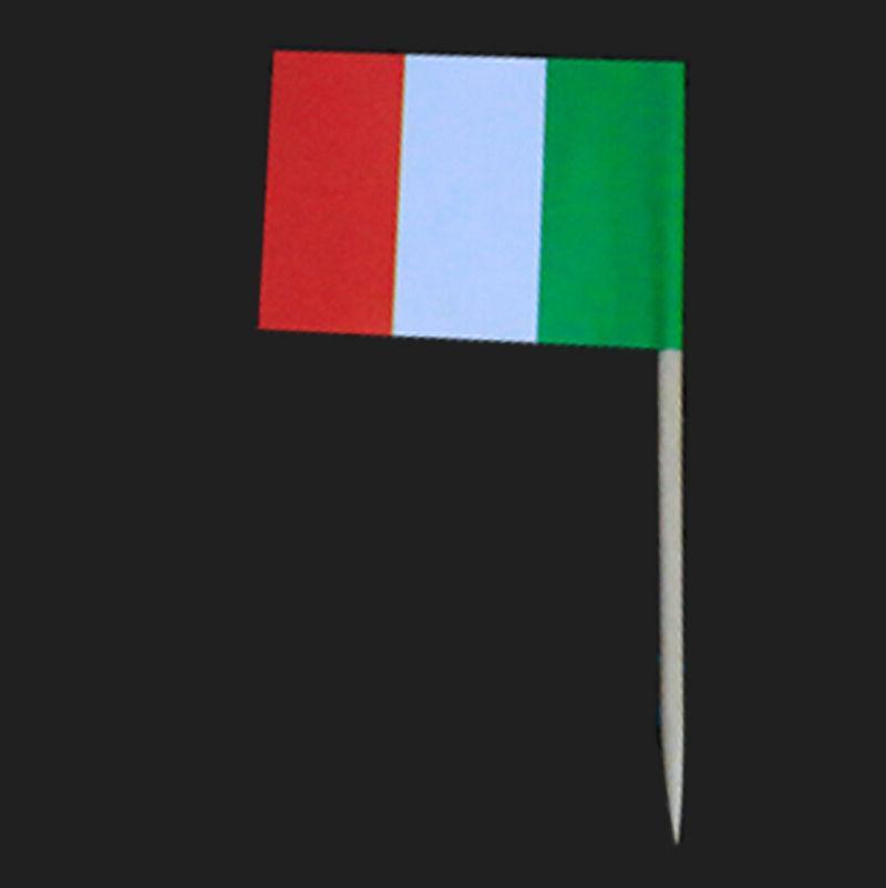 100pcs Italy flag Cupcake Picks,Italian flag cup Cake Topper