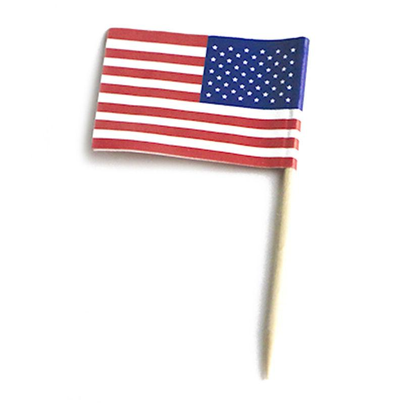 100pcs USA flag Cupcake Picks,American flag cup Cake Toppers