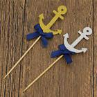 10pcs Bow Tie Anchor Cupcake Topper Birthday Decorations Kid