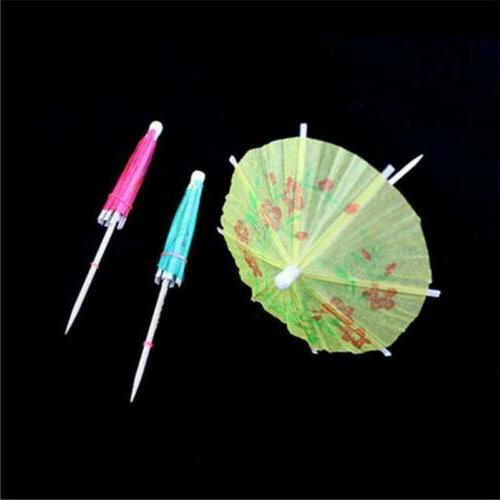 10Pcs Umbrella Pick Parasol Decor