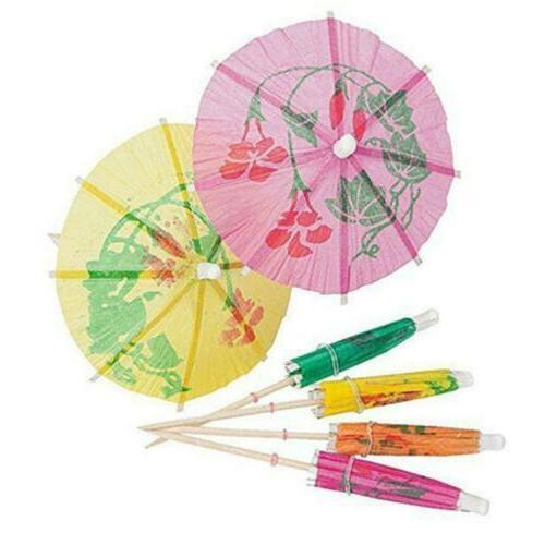 10Pcs Cocktail Cupcake Umbrella Pick Paper Parasol