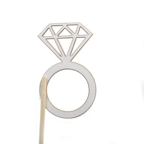 10pcs Diamond Ring Toppers Table