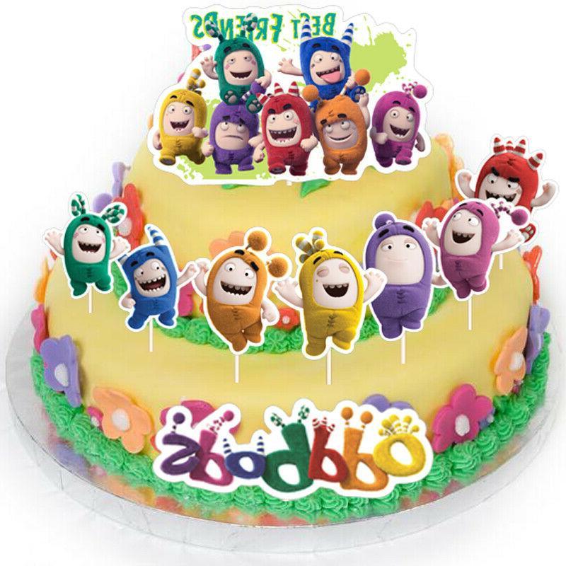 10PCS Fuse Bubbles Pogo Cake Toppers Picks Decor