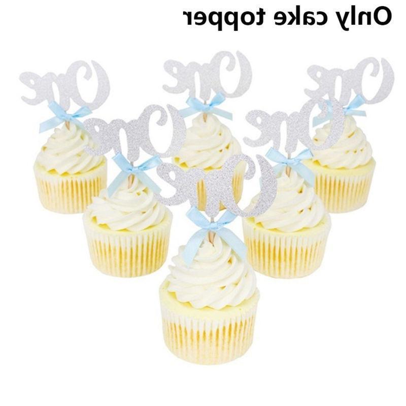 10pcs One Year Cupcake Baby Shower Wedding