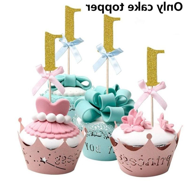 10pcs Cupcake Toppers Shower Cake Decors